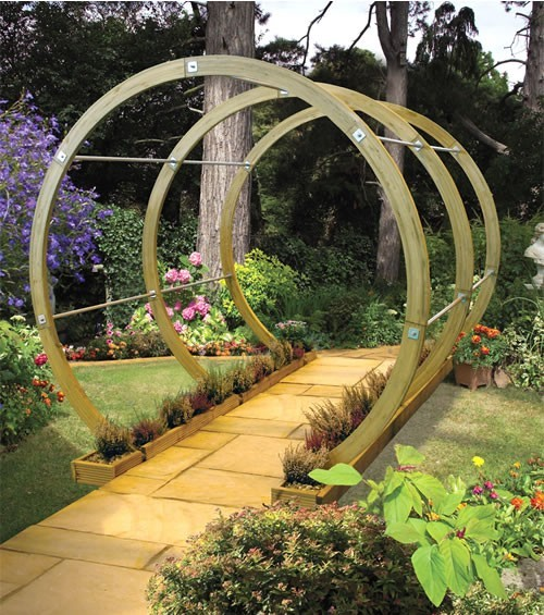 Flower Pergola Circular walk way