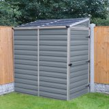 Palram 4'x6' Skylight Plastic Pent Shed