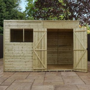 Pressure Treated Pent Shed 10'x6'