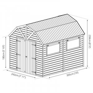 Premium Shiplap T&G Dutch Barn 10x8