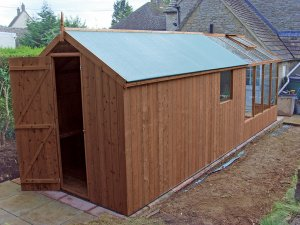 combination shed