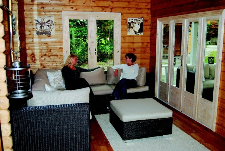 Internal View of Bonaire Lugarde Log Cabin