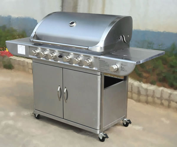 Stainless Steel Hooded Gaas Barbeque
