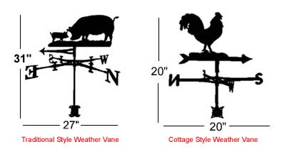 Traditional and Cottage Style Weather Vanes