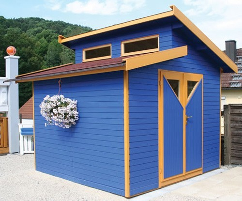 Dual pent roof shed