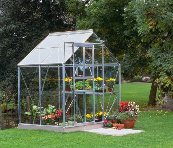 Halls Popular 64 Aluminium Greenhouse with Horticultural Glass