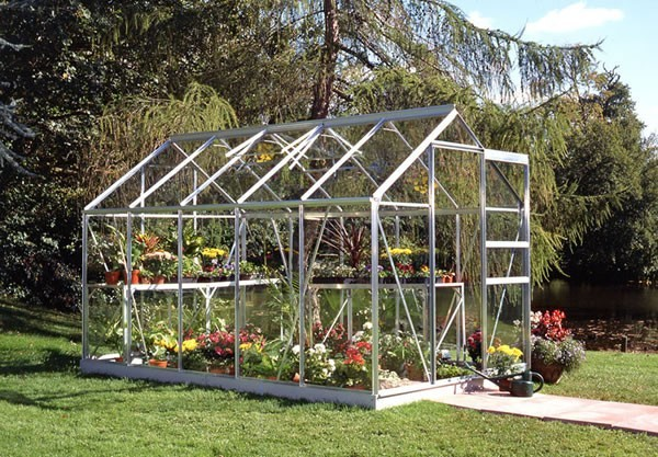 Halls Popular 106 Greenhouse with Horticultural Glass