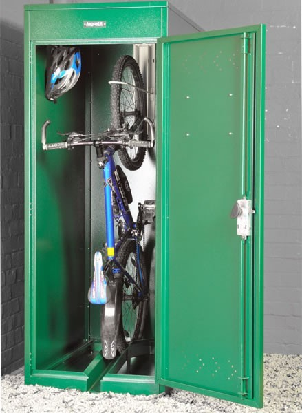 Bike Secured into Locker