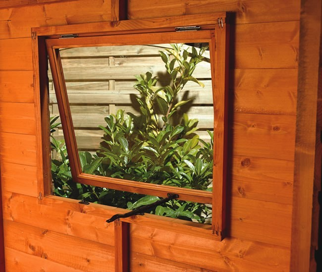 Opening shed window