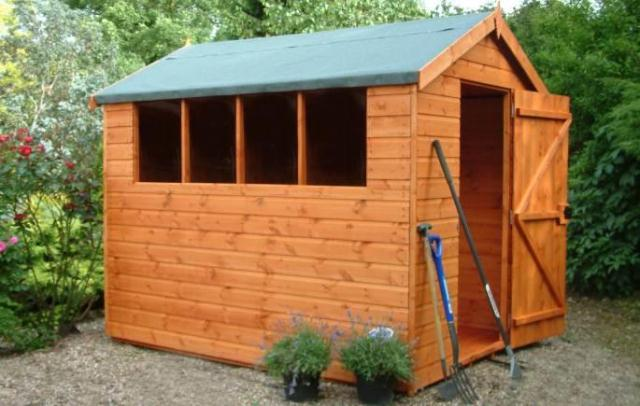 Popular Apex Shed 8x6 (2.43m x 1.82m) Free Delivery