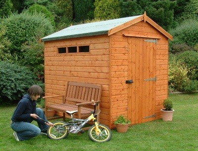 Security Apex Shed 14x8 (4.26m x 2.43m) Ready Built Free Delivery