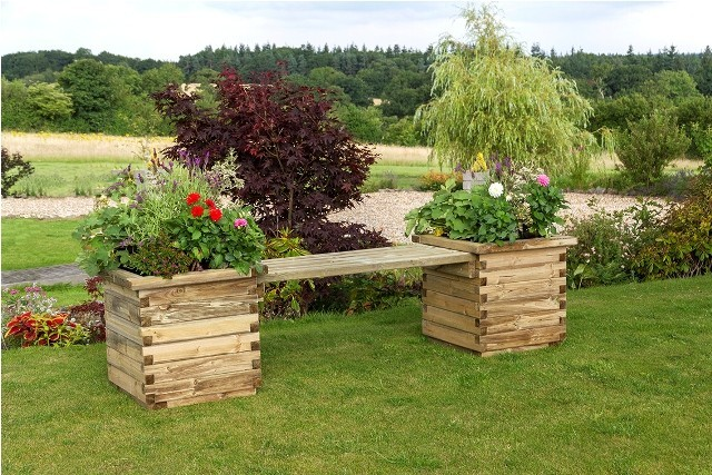 Isabel Planter Bench