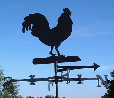Traditional style weathervane - NB. This is the Cockerel design