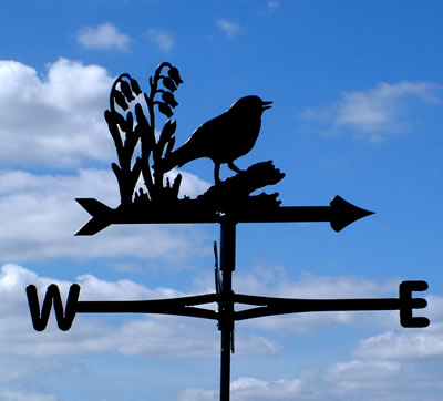 Cottage Style Weather Vane NB. This is the Robin design